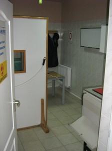 RTG szoba bejárata